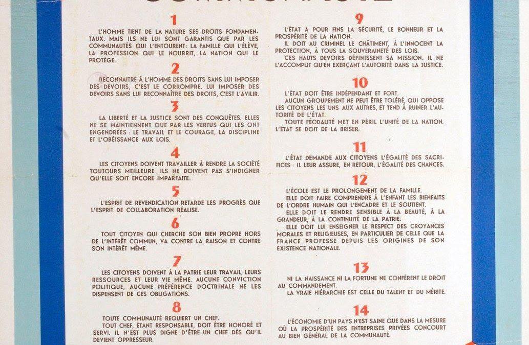 Les Principes de la Communauté, une politique réaliste face aux Droits de l'Homme, (partie II)